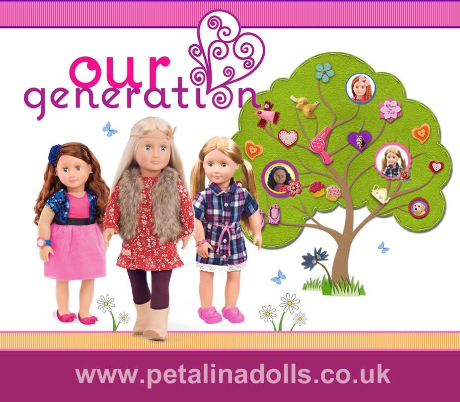 our generation dolls at Petalina