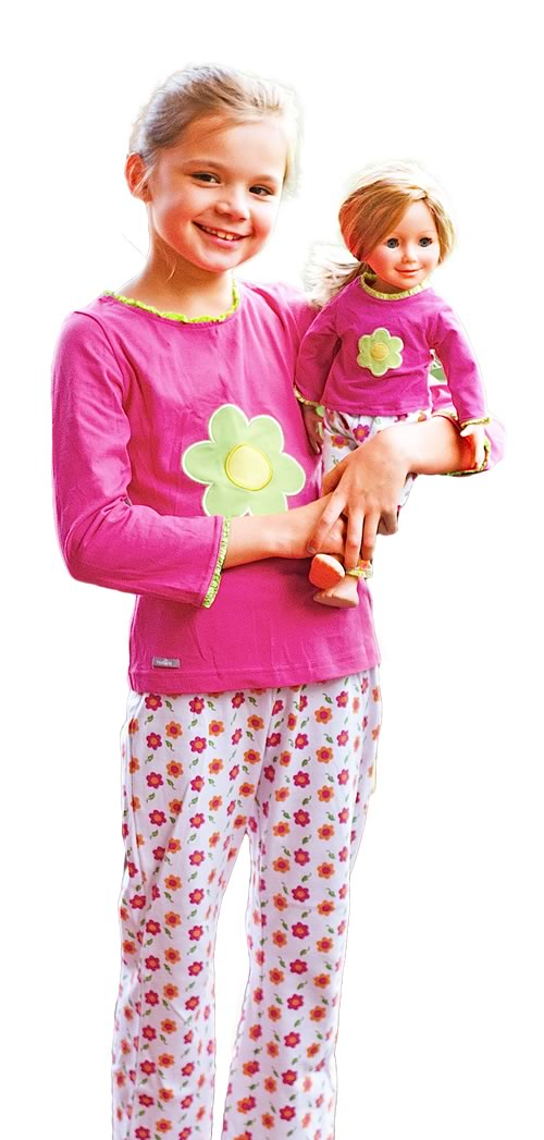 girl and doll matching clothes