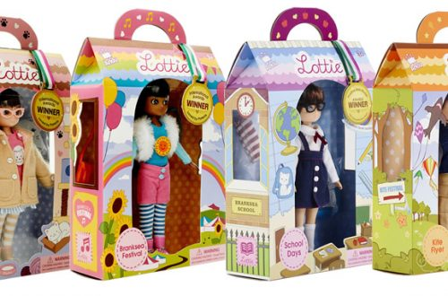 Lottie dolls in boxes