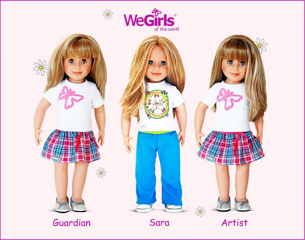 WeGirls dolls Guardian, Sara and Artist