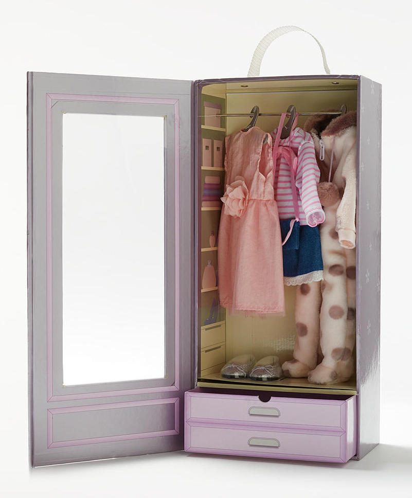 Dolls Wardrobe with Clothes